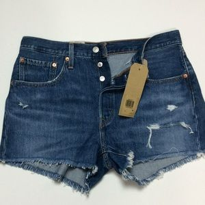 Levi's 501 NWT Womens Button Fly Hi-Rise Shorts 30